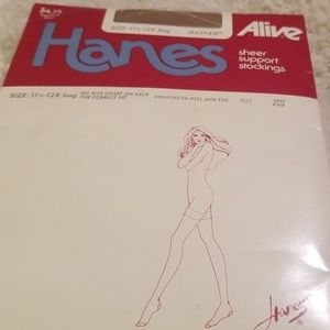 Hanes Alive - Vintage  11.5-12X Thigh High NEW